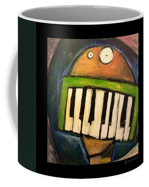 Funny Coffee Mug featuring the painting Melodica Mouth by Tim Nyberg
