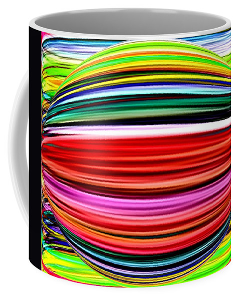 Abstract Coffee Mug featuring the digital art Melon Mania by Will Borden