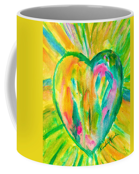 Heart Coffee Mug featuring the painting Melting Heart by Kendall Kessler