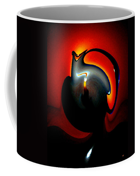 Dramatic Coffee Mug featuring the digital art Melting Point by Will Borden