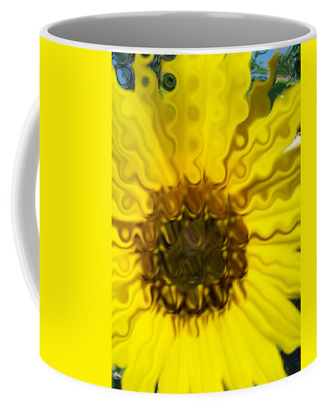 Yellow Prints Coffee Mug featuring the photograph Melting Sunflower by Laurette Escobar