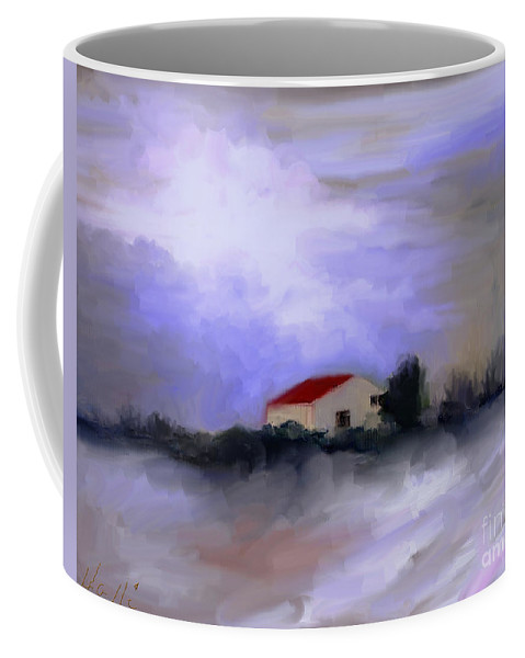 Featured Artist With Faa  Coffee Mug featuring the painting Memoire Hivernale by Aline Halle-Gilbert