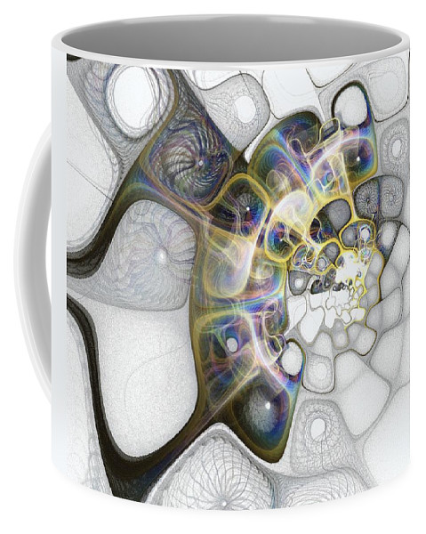 Digital Art Coffee Mug featuring the digital art Memories II by Amanda Moore