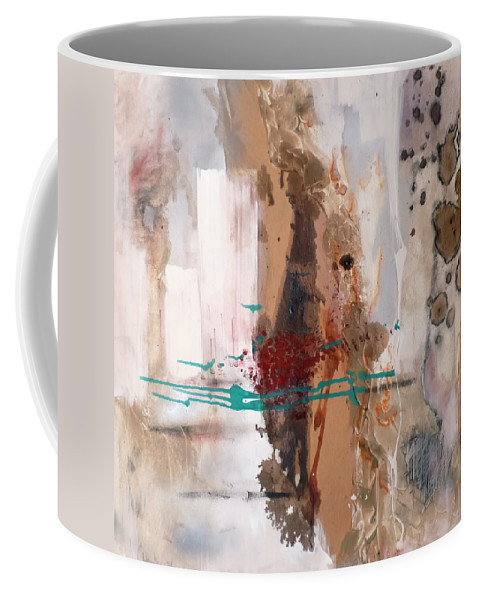 Decay Coffee Mug featuring the mixed media memories of an Irish cottge by Jane Clatworthy