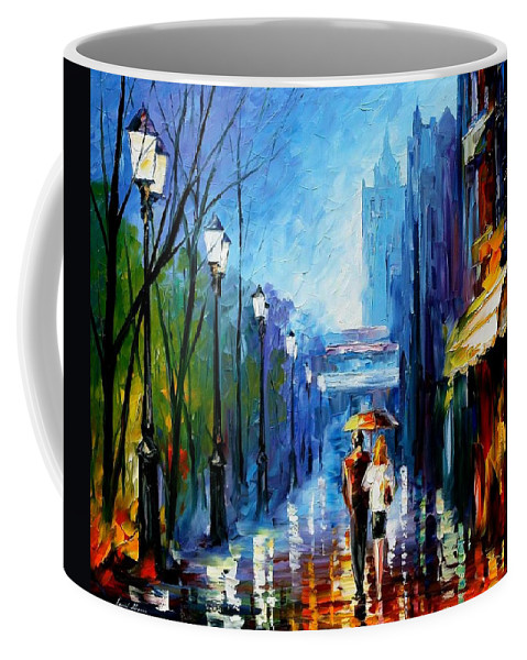 Afremov Coffee Mug featuring the painting Memories Of Paris by Leonid Afremov