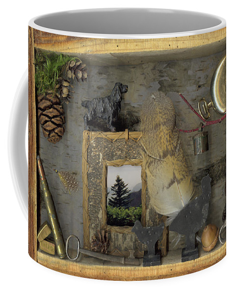Antiques; Pocket Watch Coffee Mug featuring the mixed media Memories by Sandi F Hutchins