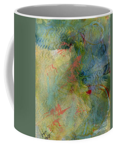 Abstract Coffee Mug featuring the painting Memory by Hew Wilson