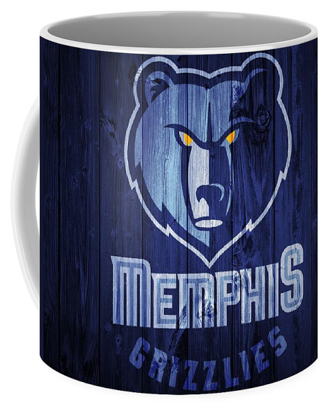 Memphis Grizzlies Barn Door Coffee Mug featuring the digital art Memphis Grizzlies Barn Door by Dan Sproul