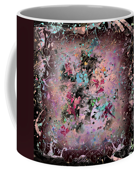 Abstract Coffee Mug featuring the digital art Menagerie by Rachel Christine Nowicki