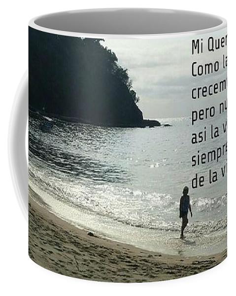 Beach Coffee Mug featuring the photograph Mensaje A Una Hermana by Cheryl Wallace
