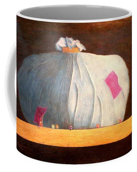 Still Life Coffee Mug featuring the painting Mental Escapees by A Robert Malcom