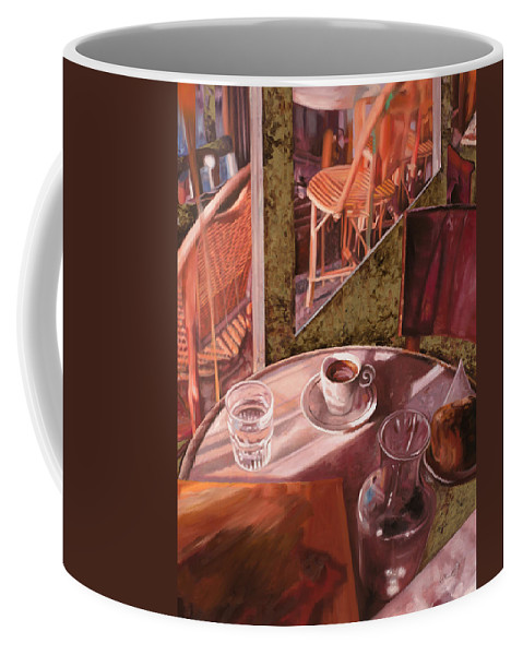 Caffe Coffee Mug featuring the painting Mentre Ti Aspetto by Guido Borelli