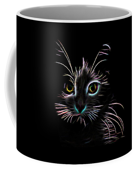 Cat Coffee Mug featuring the digital art Meow by Aaron Berg
