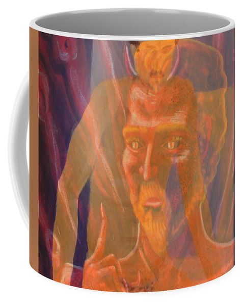 Photo Collage Coffee Mug featuring the photograph Mephistopheles And Faust The Deal Is Made by Thomas J Nixon