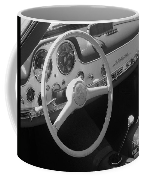 Mercedes Coffee Mug featuring the photograph Mercedes 300sl Dashboard by Neil Zimmerman