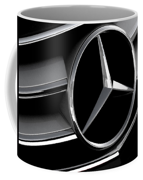 Mercedes Coffee Mug featuring the digital art Mercedes Badge by Douglas Pittman