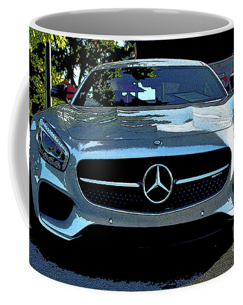 Mercedes Coffee Mug featuring the photograph Mercedes-benz Amg Gt S by Craig Wood