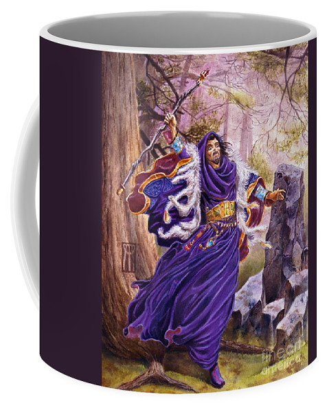 Artwork Coffee Mug featuring the painting Merlin by Melissa A Benson