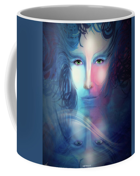 Mermaid Coffee Mug featuring the digital art Mermaid by Larry Rice