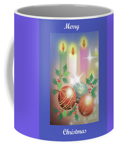 Christmas Coffee Mug featuring the painting Merry Christmas 1 by Laura Greco