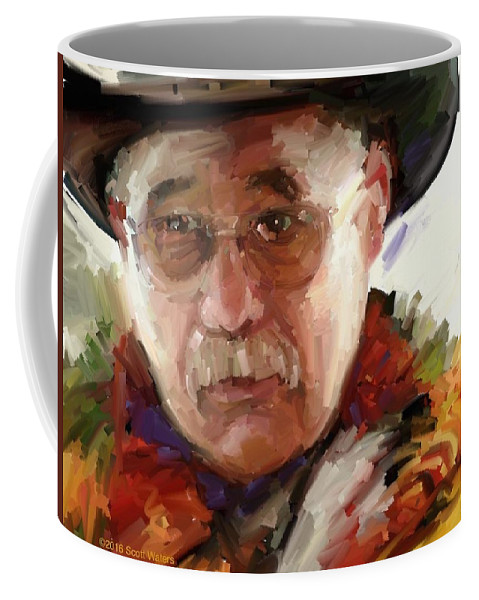 Coffee Mug featuring the digital art Merton by Scott Waters