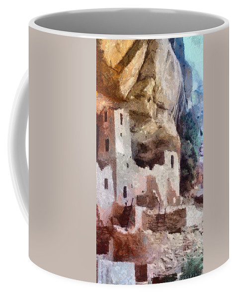 American Southwest Coffee Mug featuring the painting Mesa Verde by Jeffrey Kolker