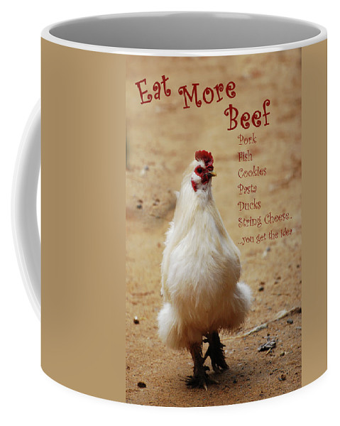 Chicken Coffee Mug featuring the photograph Message From A Chicken by Lori Tambakis