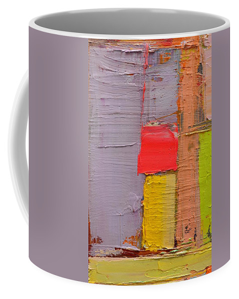 Abstract Coffee Mug featuring the painting Message From Above by Ana Maria Edulescu