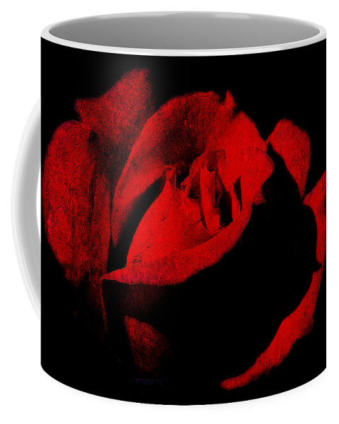 Seduction Coffee Mug featuring the digital art Seduction In Red by Max Steinwald