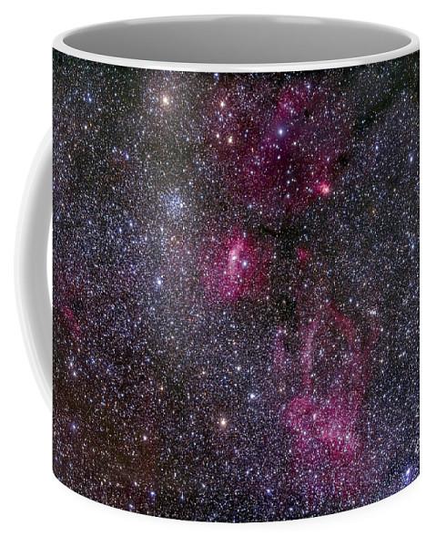 Bubble Nebula Coffee Mug featuring the photograph Messier 52 And The Bubble Nebula by Alan Dyer