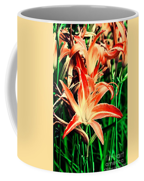 Lily Coffee Mug featuring the photograph Messy Bed by Rebecca Stephens