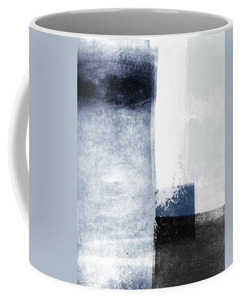 Blue Coffee Mug featuring the mixed media Mestro 3- Abstract Art by Linda Woods by Linda Woods