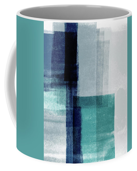 Abstract Coffee Mug featuring the mixed media Mestro 5- Art By Linda Woods by Linda Woods