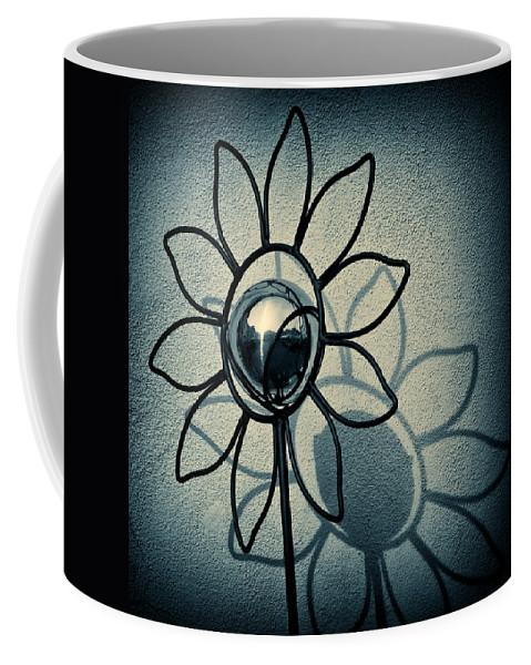 Sunflower Coffee Mug featuring the photograph Metal Flower by Dave Bowman