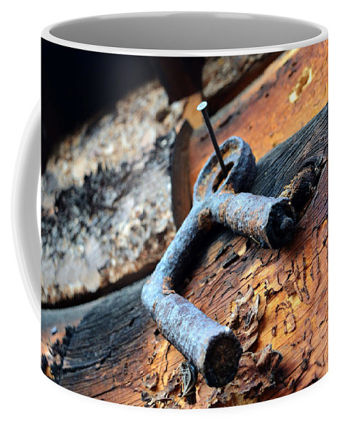 Metal Coffee Mug featuring the photograph Metal Piece by Pam Romjue