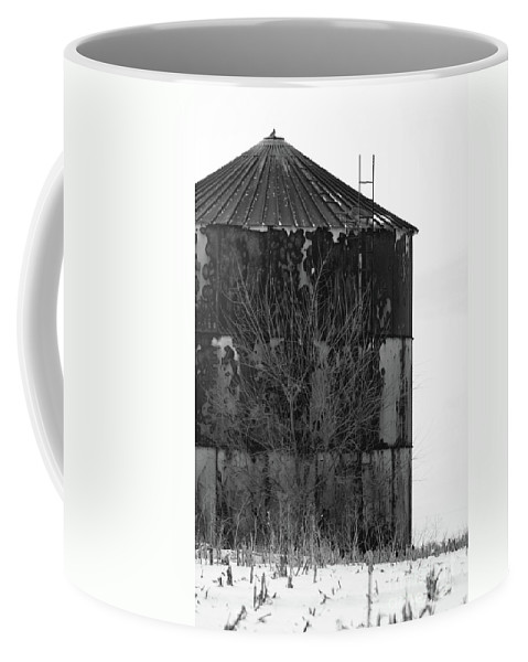 Rural Coffee Mug featuring the photograph Metal Storage by Alan Look