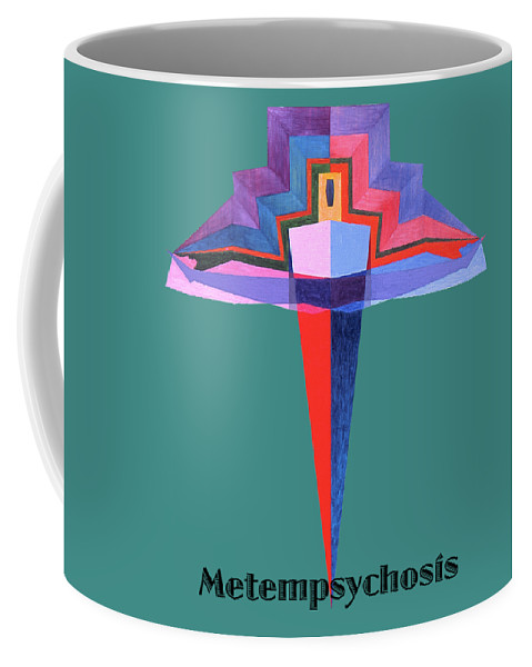 Painting Coffee Mug featuring the painting Metempsychosis text by Michael Bellon