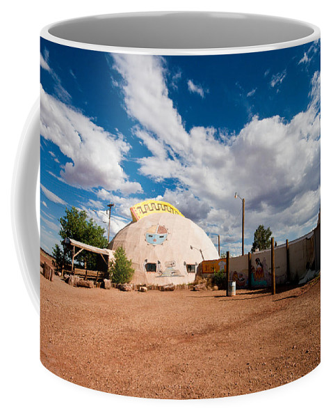 Meteor City Coffee Mug featuring the photograph Meteor City Trading Post by Robert J Caputo