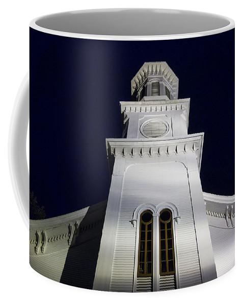 Church Coffee Mug featuring the photograph Methodist Steeple by David Stone