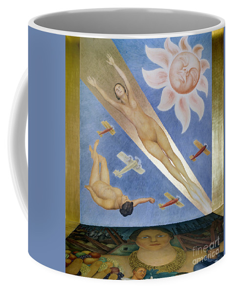20th Century Coffee Mug featuring the photograph Mexican Mural Painting by Granger