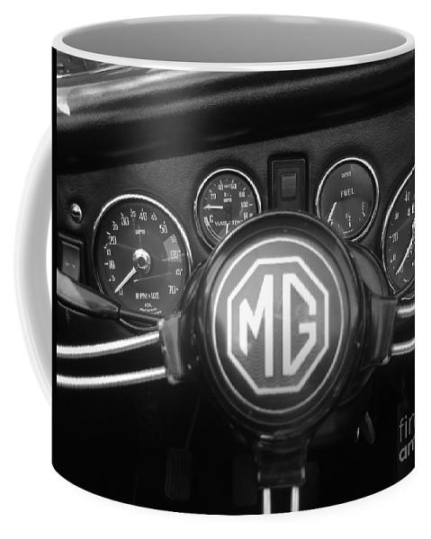 Mg Midget Coffee Mug featuring the photograph Mg Midget Dashboard by Neil Zimmerman