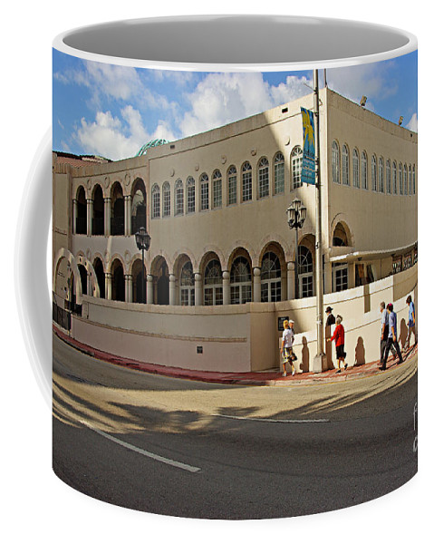 Synagogue Coffee Mug featuring the photograph Miami Beach Synagogue Saturday Morning by Zalman Latzkovich
