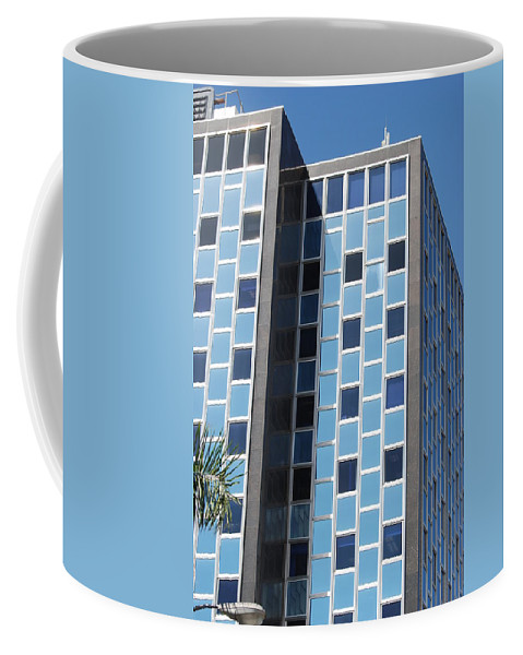 Architecture Coffee Mug featuring the photograph Miami Checker Board by Rob Hans
