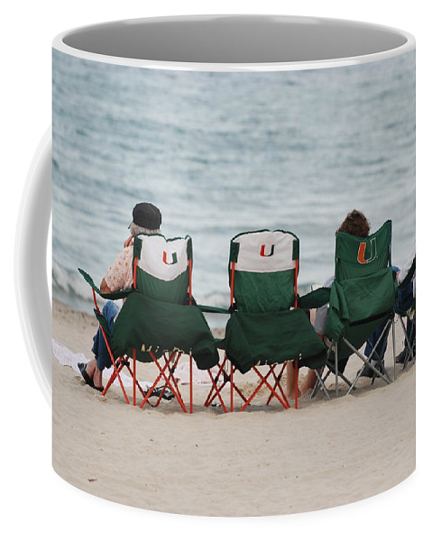 University Of Miami Coffee Mug featuring the photograph Miami Hurricane Fans by Rob Hans
