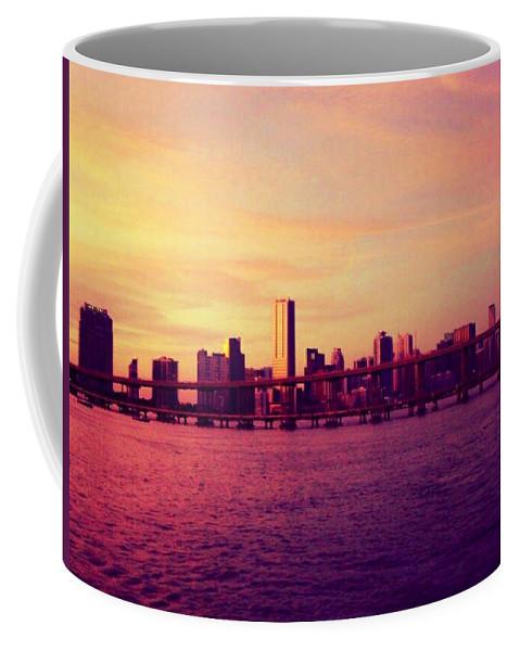 Miami Coffee Mug featuring the photograph Miami Nights by Edith Marrero