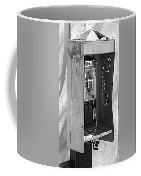 Pop Art Coffee Mug featuring the photograph Miami Pay Phone by Rob Hans