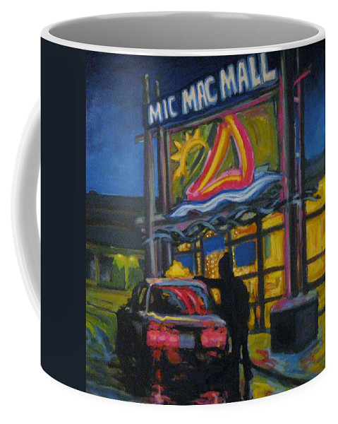 Retail Coffee Mug featuring the painting Mic Mac Mall Spectre Of The Next Great Depression by John Malone