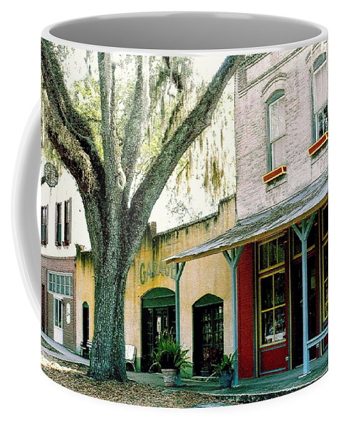 Micanopy Coffee Mug featuring the photograph Micanopy Storefronts by Nelson Strong