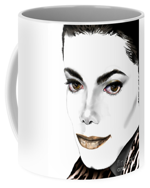 Michael Coffee Mug featuring the painting Michael J by Reggie Duffie
