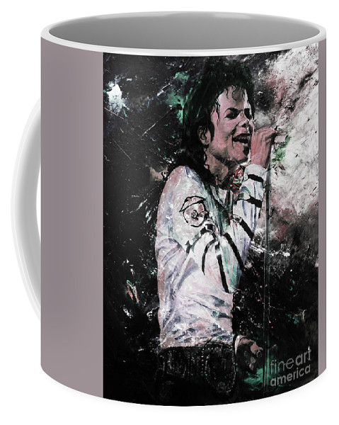 Michael Jackson Coffee Mug featuring the painting Michael Jackson 01 by Gull G